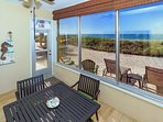 Lanai, right off the living room with spectacular view of the Gulf.  Walk right out onto the sand!