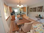 Savor a Meal with the Family in this Lovely Dining Area with seating for 6