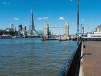 Enjoy fantastic views of London and the River Thames.