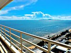 sea view from huge  balcony