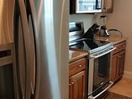 Full size appliances in kitchen