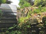 Waterwheel in garden