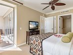 The master bedroom also offers balcony access