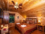 Loft features the King-Size Bed with 32' Flat Screen TV and DVD player.
