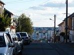 La rue de Gazonfier qui conduit à la rue du Tertre St André