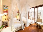 Villa Mako - Twin bed bamboo room