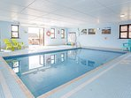 Our indoor swimming pool is heated all year