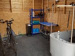 Secure bike storage available.