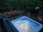Private Hot tub and Fire Pit