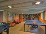 Countless hours of leisure await in the basement.