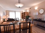 Beautifully decorated thru-out this condo. Living room extends out to balcony