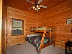 Lower level Bunk Room, Twin over Full with Private Bathroom
