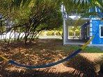 Relax in the hammock in your mangrove garden