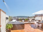 Stunning 45 m2 terrace with views to Montjuic Mountain