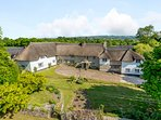 Ariel view of Treaslake Farm and Holiday Cottages