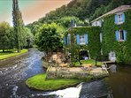 Fine dinning Brantome by the river.