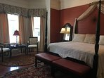 Ebony Rouge is our largest and most romantic suite!