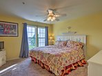 Find a peaceful night's sleep waiting in the first bedroom's king bed.