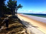 Findhorn Bay is truly stunning and 40 minutes drive.