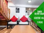 Gardenia · Big 2 rooms, downtown, 5 min berri metro, 7 person