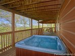 Hot Tub at On Angels Wings