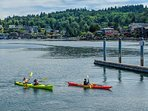 Kayak and paddle board rentals are nearby