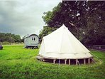 Our Bell Tent which can accomodate larger groups