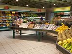 Supermarket just across the road has fresh fruit, fish and gluten free products
