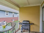 Enjoy barbecues on the back deck.