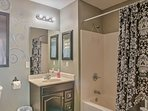 Wash your day away in this en-suite bath.