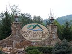 Smoky Mountain Country Club Entry Sign