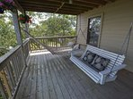 Open air deck with hammock and swing