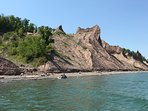 Chimney Bluffs - great for hiking and views. Only a short drive or boat ride away!
