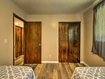 Each room offers closet space to store your belongings.