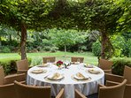 Picturesque outdoor dining