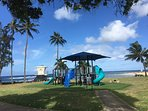 Kids playground right next to baby beach.  Steps away from the house.