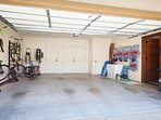 Garage equipped with bikes and tons of beach and snorkel gear for your use