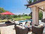 Enjoy sun around private pool and spa