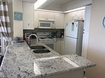 New Granite before the new stainless steel appliances came in. See new pics of appliances!