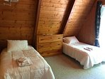 (1) Main level room - two twin beds at Goslings' Nest.