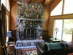 Fireplace room. Please note that the Fireplace is currently not in use but will be for fall/winter