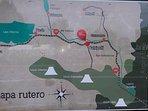 Plano ubicación camping caravan park Hans en catripulli pucon