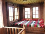Terrace on the second floor with a magnificent view of the Balkan Range and a day bed