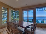 Lake views from the indoor dining table