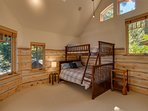 Bunk beds in the third upstairs bedroom