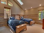 Fourth upstairs bedroom with two twin beds