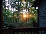 Sunset from your balcony, or relax on our large deck in the hot tub for a better view!