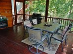 Our main house screened porch is available for your use, along with the gas BBQ grill, and a freezer