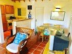 Cottage sitting room/kitchen