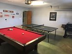 garage conversion to game room